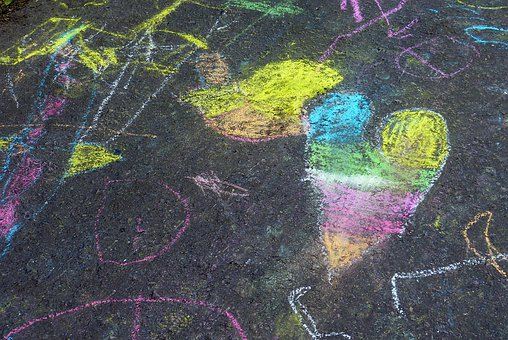 Background, Chalk, Road, Drawing, Paint, Patch, Ground