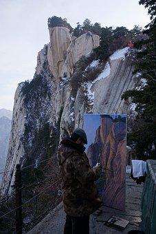 Pinus Armandii, Mountain, Natural, Painting, Art