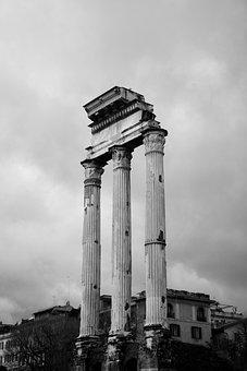 Foro Romano, Roman, Italy, Roma, Architecture, Pillar