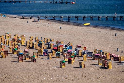 Beach Chair, Beach, Sand, Water, Sea, Lake, Baltic Sea