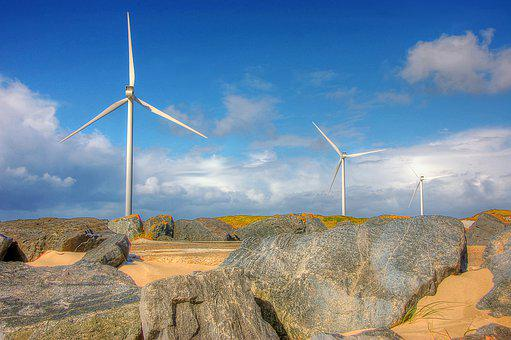 Pinwheel, Hvide Sande, Denmark, North Sea, Sea, Nature