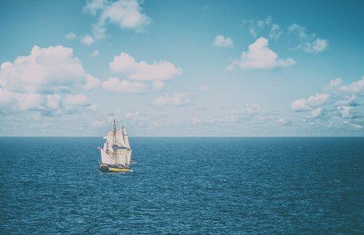 Ship, Sailing Vessel, Flatboat, Boat, Sailing Boat