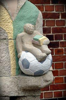 Football, Ball, Footballers, Sport, Soccer, Art, White