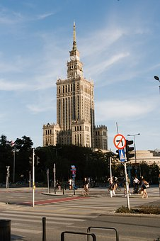 Warsaw, Poland, The Palace Of Culture And Science