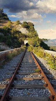 Binary, Train, Fe, Rails, Railroad, Tracks, Trip, Track