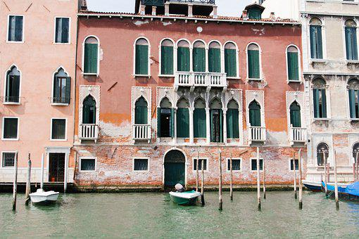 Venice, Italy, Architecture, Channel, Water, Boats