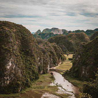 Ninh Binh, Viet Nam, River, Asia, Water, Nature, People