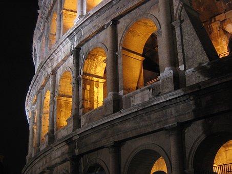 Italy, Rome, Architecture, Colosseum, Roman Forum
