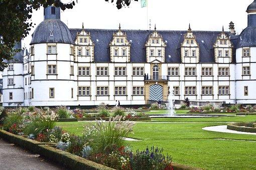 Castle, Beautiful, Romantic, Germany, Schlossgarten