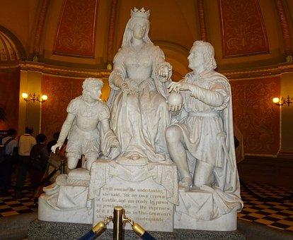 Statue, Capitol, Interior, Building, California