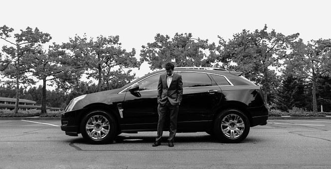 Man, Suit, Male, Business, Man In Suit, Car, Cadillac