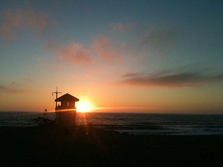 Lifeguard, Coast, Scenic, Sunset, Paradise, Sunny