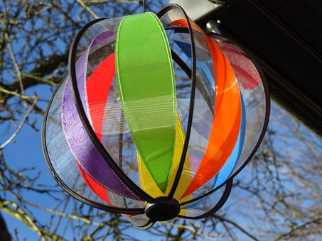 Windspiel, Colorful, Wind, Wind Power, Color