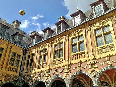 Lille, Old Stock Exchange, Court, Facades, Architecture