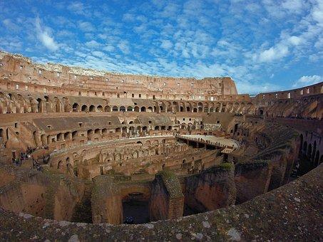 Coliseum, Rome, Italy, Travel, Europe, Italian, Roman
