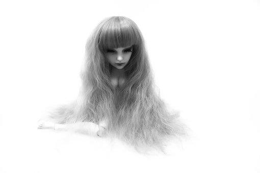 Doll, Head, Long Hair, Face, Toys, Doll Face, Fig