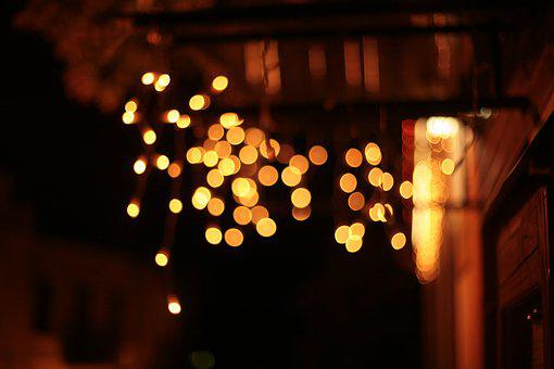 Bokeh, Night, City, Lights, Flashlights, Festive, Mood