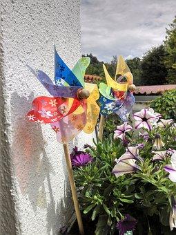 Pinwheel, Deco, Windspiel, Garden Decoration