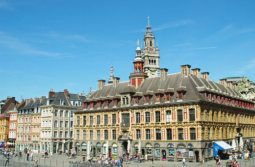 Lille, Grand-place, Old Stock Exchange, Belfry