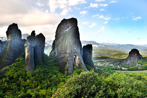 Meteora, Greece, Mountains, Nature, Climbing, Kalambaka