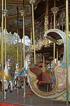 Carousel, Amusement Park, Playground, Horses, Fun
