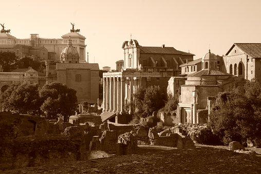 Rome, Forum, Ruins, Ancient, Landmark, Italy
