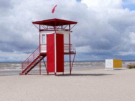 Watchtower, Coast, Coast Guard, Sea, Beach, Lonely