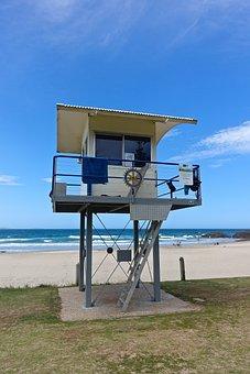 Coast Guard, Lifesaver, Lookout, Beach, Observation