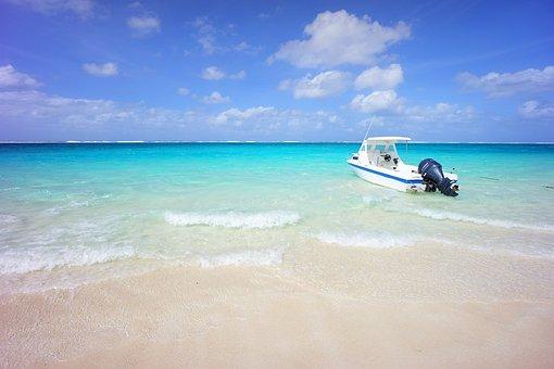 Boat, Ship, Saipan, Mahogany Island, Beach, Landscape