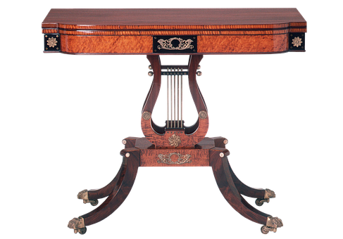 Card Table, Cards, Table, Ornate, Mahogany, Wood, Maple
