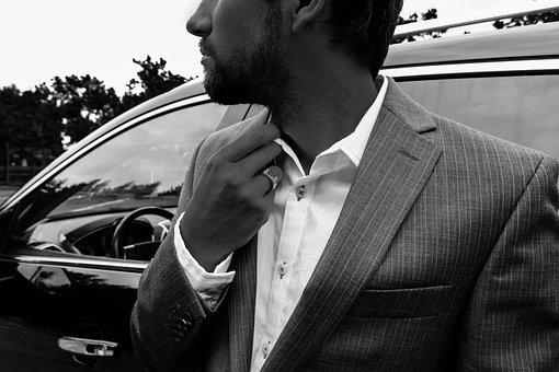 Man, Suit, Male, Business, Man In Suit, Car, Cadillac