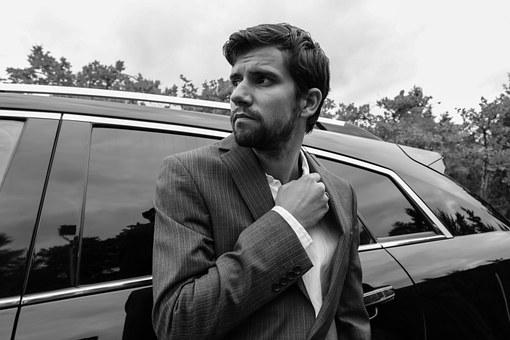 Stylish, Man, Suit, Male, Business, Man In Suit, Car