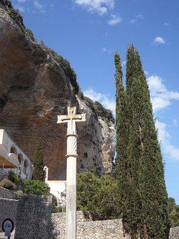 Mallorca, Cross, Make A Pilgrimage, Stone Cross