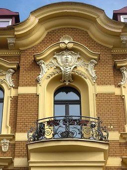 Bydgoszcz, Pediment, Gable, Balcony, Architecture