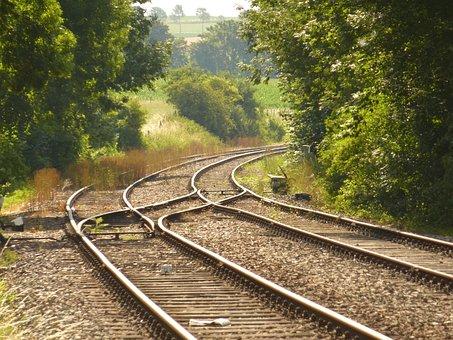 Railway Line, Rails, Train, Transport, Tracks