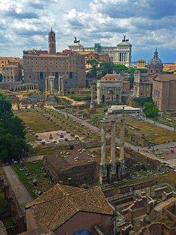 Rome, Roman Forum, Ancient Ruins, Antique, Architecture