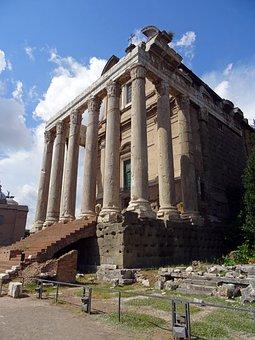 Rome, Italy, Antique, Architecture, Buildings, Temple