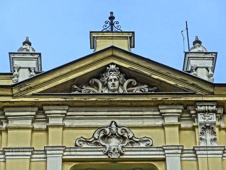 Welniany Rynek, Bydgoszcz, Tympanum, Relief, Sculpture