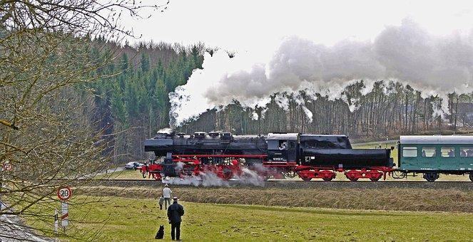 Steam Locomotive, Steam Train, Mountain Ride, Eifel
