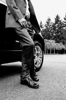 Handsome, Man, Suit, Male, Business, Man In Suit, Car