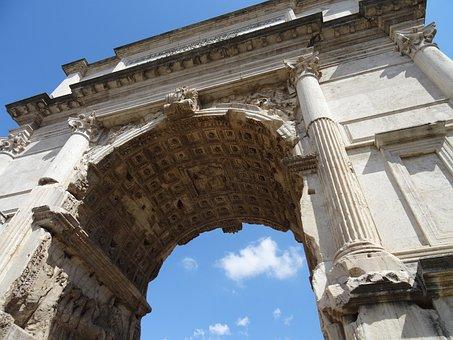Rome, Roman Forum, Triumphal Arch, Italy, Arc