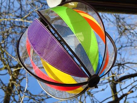 Windspiel, Blow, Turn, Wind, Wind Power, Color