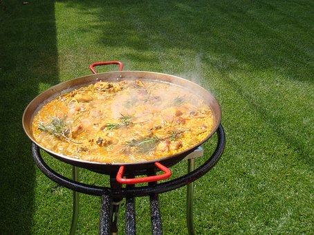 Paella, Valencia, Rice, Rosemary, Valencian Paella