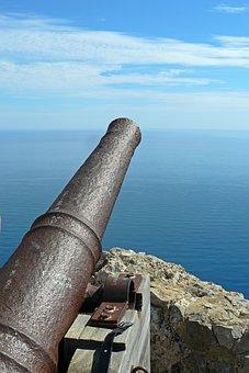 Gun, Barrel Of A Gun, Bronze Cannon, Metal, Weapon