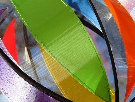 Windspiel, Colorful, Plastic, Blow, Turn, Wind