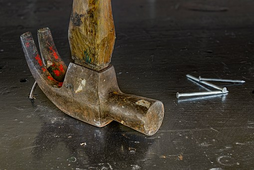 Hammer, Nails, Stacked Focus, Tool, Construction, Work