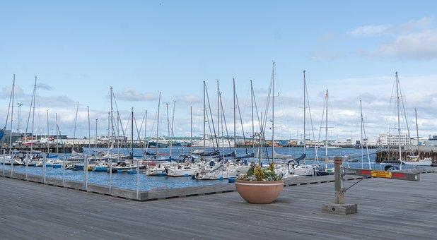Iceland, Harbor, Boats, Reykjavik, Bay, Nature, Water
