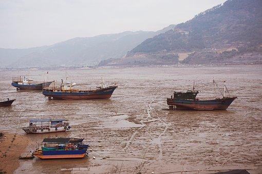Beaches, Seas, Coasts, Fishing Boats