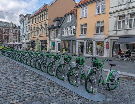 Bergen, Norway, Bicycles, Scandinavia, Architecture