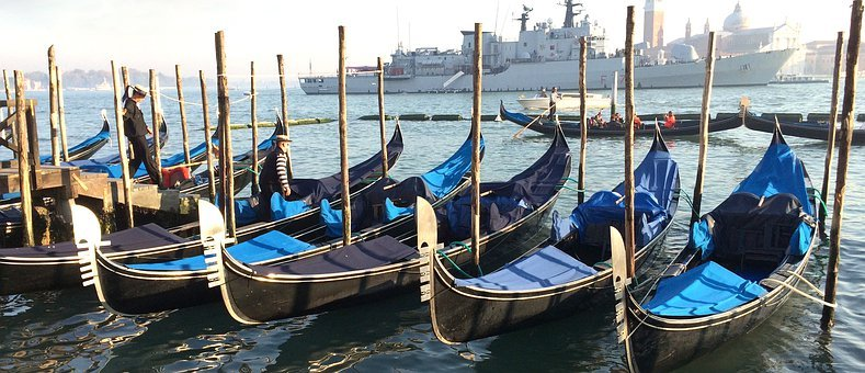 Venice, Water, Boats, Gondola, Historic, Tourism, Boat